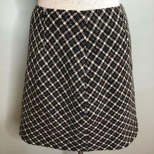 Ann Taylor NWT Plaid 100% Wool Skirt Size 6